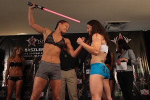 InvictaFC 2 Weigh-Ins - Intense Stares and Light Sabers