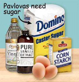 Pavlovas need sugar