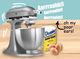 My kitchenaid is very loud!