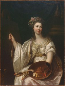 Marie-Victoire Lemoine, Portrait de l'artiste, ca. 1780/1790; Oil on canvas. Musée des beaux-arts, Orleans