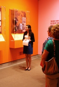 On Member Preview Day, a tour group learns about Billie Holiday in Women Who Rock: Vision, Passion, Power