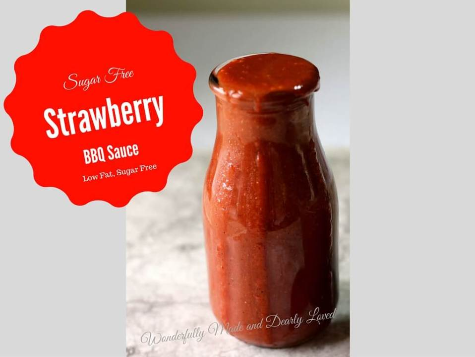Strawberry Barbecue Sauce (THM FP, Low Carb, Low Fat)