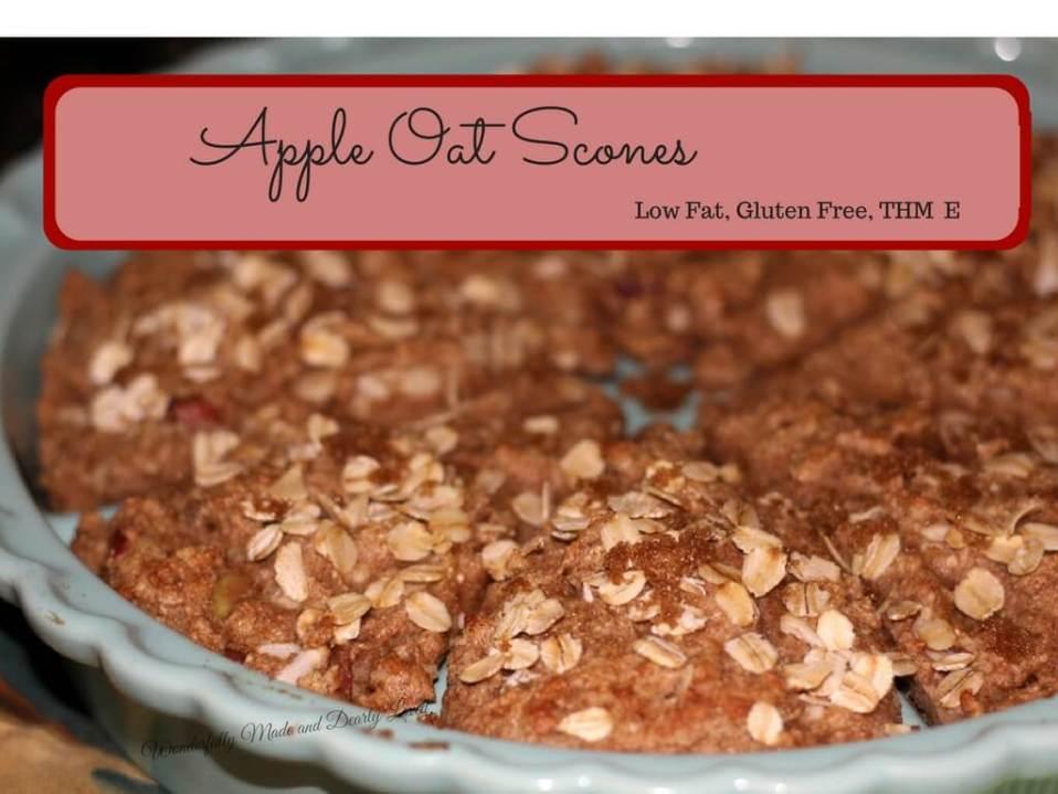 Apple Oat Scones (Low Fat, Gluten Free, THM E)