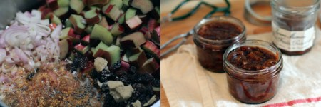 rhubarb chutney: process