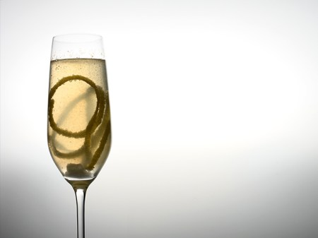 Champagne Cocktail: French Kiss