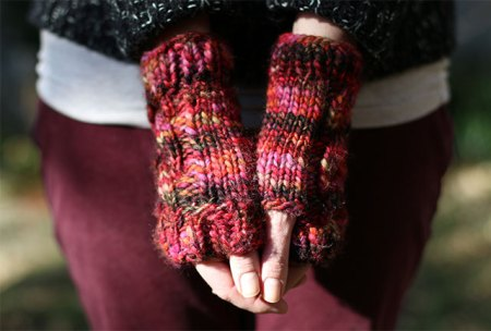 Chunky Cabled Fingerless Gloves