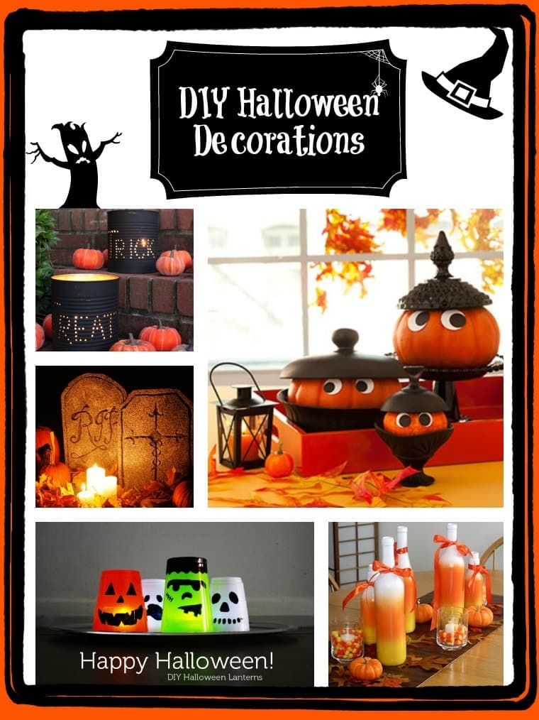 easy inexpensive diy halloween decor. Black Bedroom Furniture Sets. Home Design Ideas