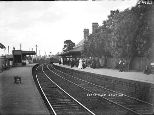 Ascot Vale railway station, circa 1880s
