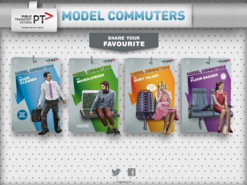 Screenshot of the PTV Model Commuters website