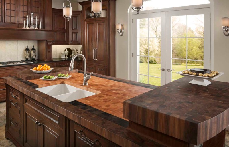 Large Of Wooden Kitchen Top