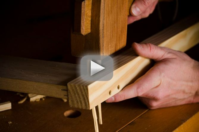 how_to_drawbore_mortise_tenon_video
