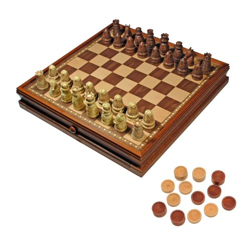 Soulful Medieval Chess Checkers Game Set Brown Ivory Chessmen Wood Medieval Chess Set Amazon Medieval Chess Set Ms
