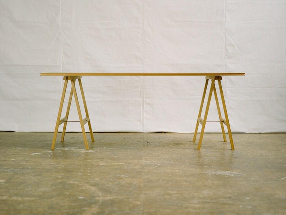 木製 折りたたみ テーブル ぱたむテーブル  タモ