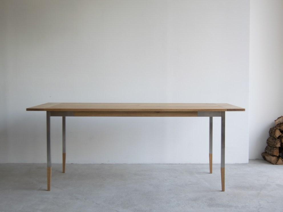 オルタナティブテーブル ナラ材天板+ステンレス脚部