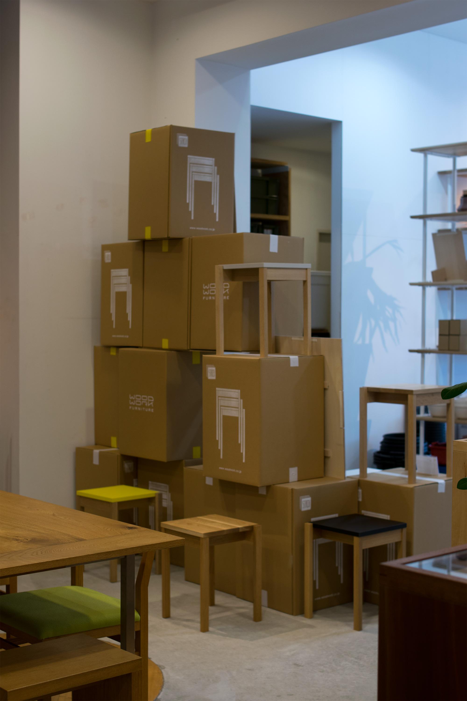 「STACK 」新作家具展示会 店内ディスプレー