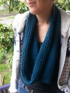 Knitting Herringbone stitch cowl (13)