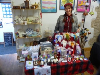 Me and my small table at Gallery 45 Christmas Fair