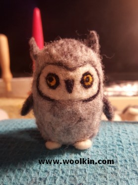 Here's a little grey owl I made just before the workshop.