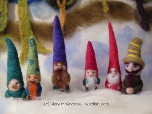 Needle Felted Gnomes Class May 18th 10am-12:30