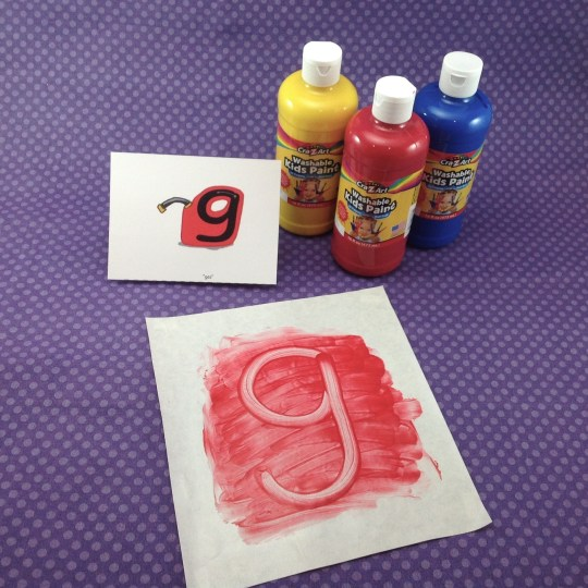4. Letter Writing Fun – Finger Painting