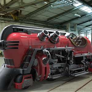 The unique Futuristic Steam Train