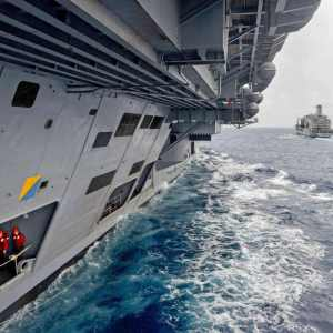 A different view of an Aircraft Carrier