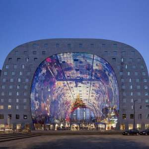 Widely popular Markthal in Rotterdam