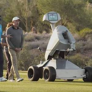 Watch this Golf Robot making a hole-in-one
