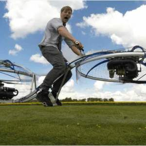 A crazy homemade hoverbike