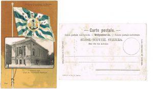 Suisse-Postkarte-ak-litho-victoria-hall-harmonie-nautique