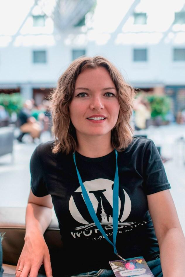 Olga at WordCamp Europe in Berlin in 2019