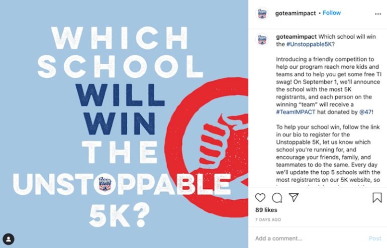 how to market to college students 5k