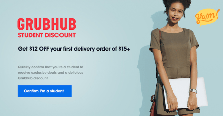 how to market to college students grubhub