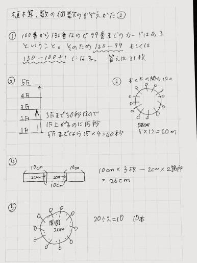 植木算の解説2