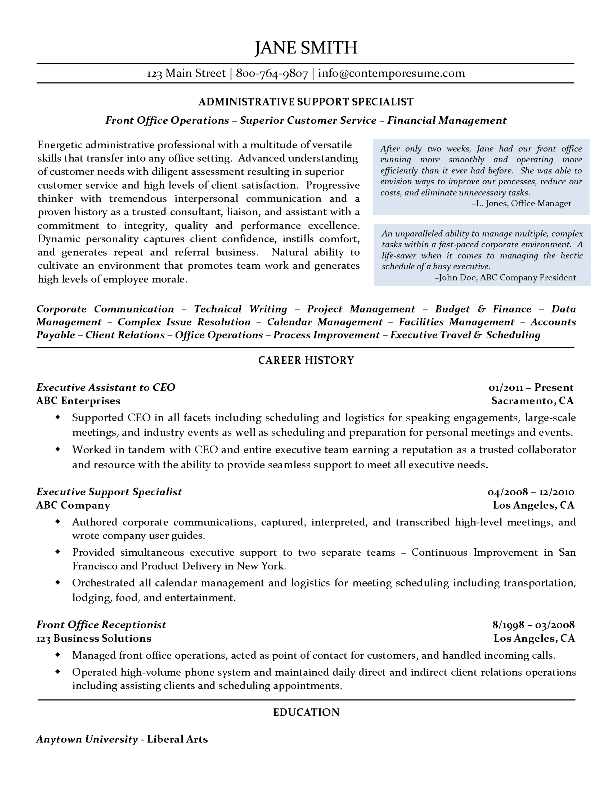 Using i in a resume