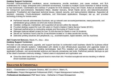 it support technician sample resume