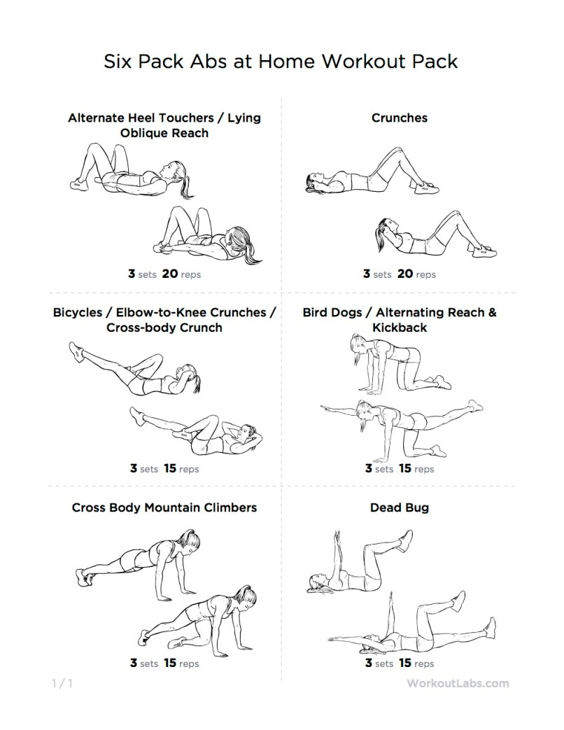 Six Pack Abs Workout Routine Pdf Sport1stfuture Org