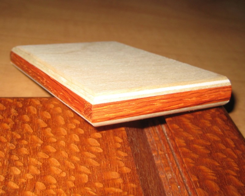 In this light the padauk grain really stands out