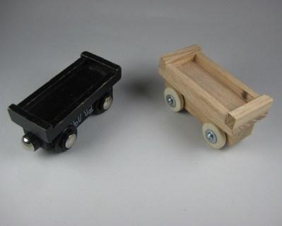 Actual flat car next to prototype