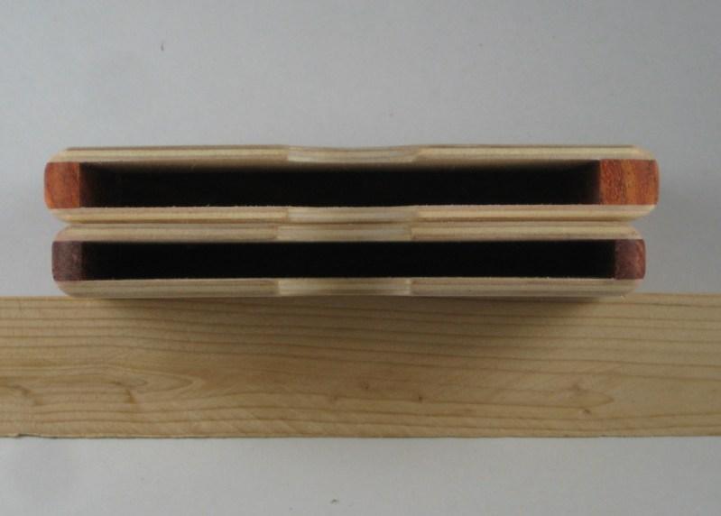 Top -- new wallet, bottom -- prototype