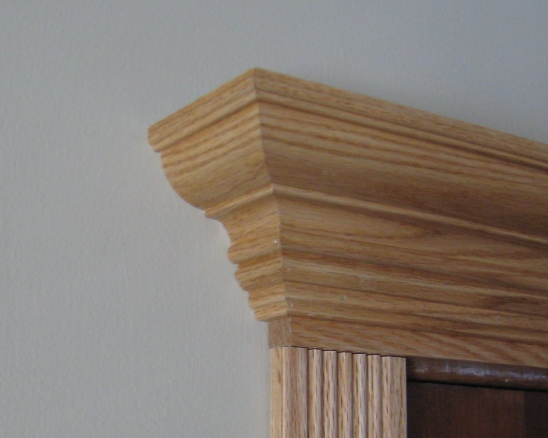 Crown molding return in place