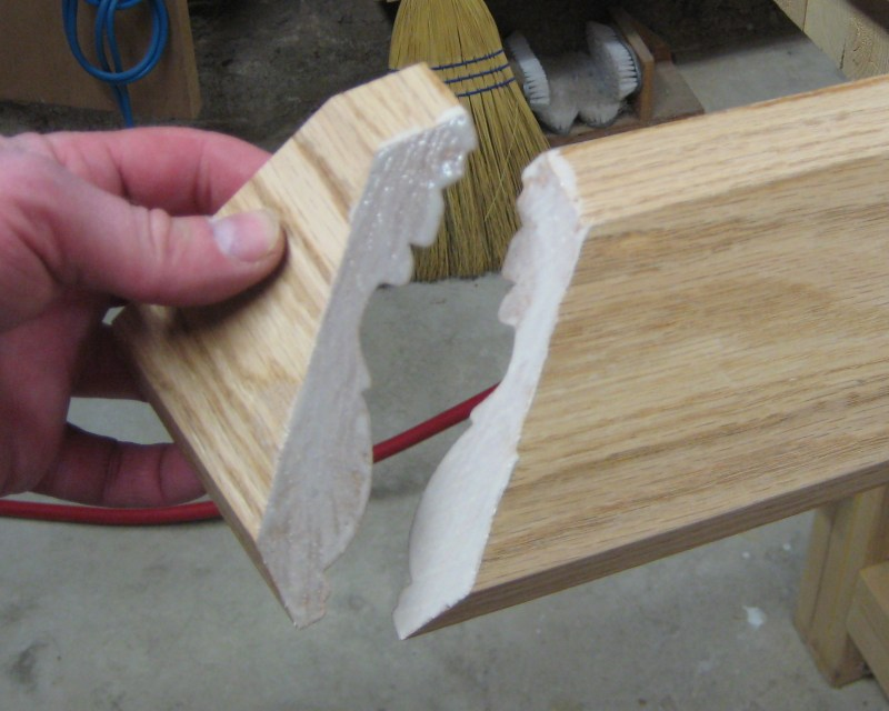 Gluing the return in place