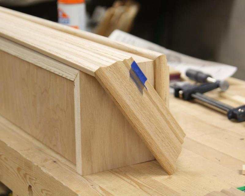 8 - Gluing a return on the crown molding cap