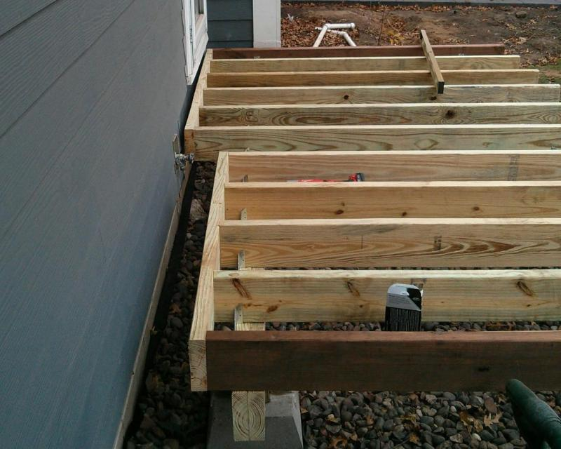 11 - Sliding the joists into their final position