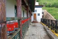 Prayer wheels at the monastery
