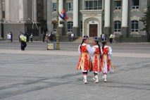 Sukhbaatar Square Costume Girls