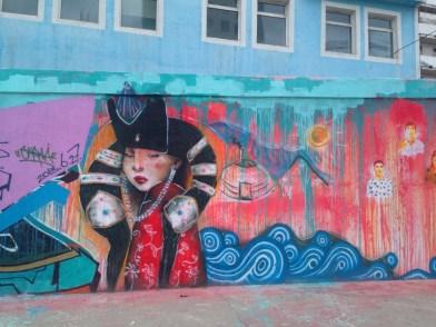 Cool graffiti in Ulan Bator.