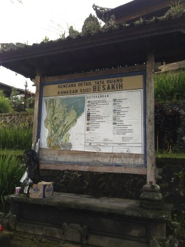 Bali Besakih Sign