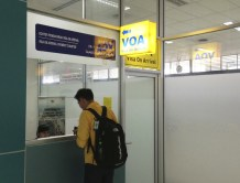 Visa on Arrival... and we're in!