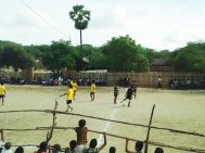 A soccer game